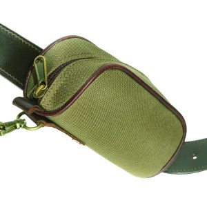 Slip-on Canvas and Leather Utility Pouch